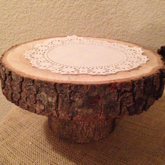 Rustic Wood Cake Stand Lipper International 1030 Acacia