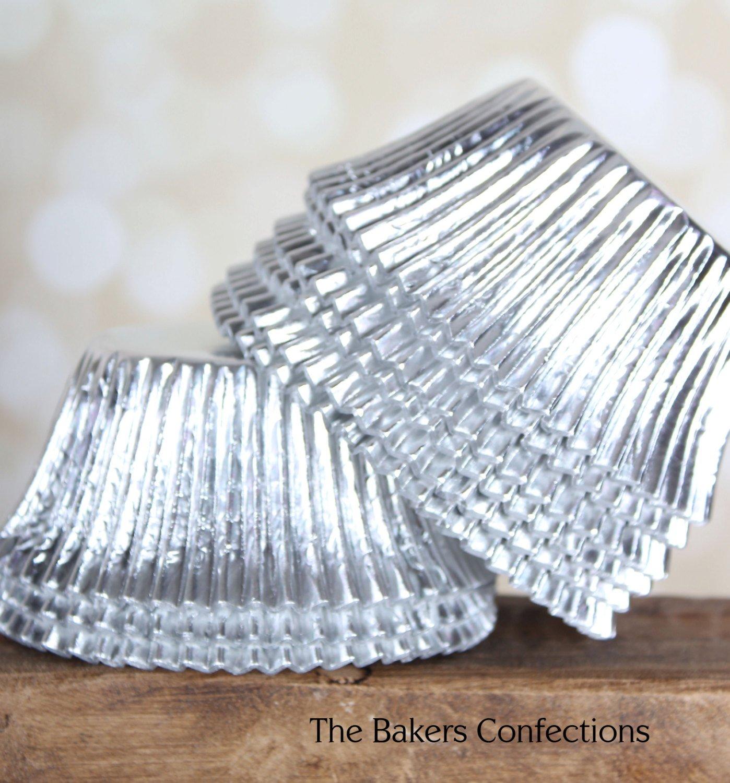 Silver Cupcake Liners Rosenice Cupcake Liners Aluminum