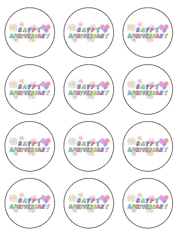 Happy Birthday Cupcake Toppers Pack Of 24 Gold Happy